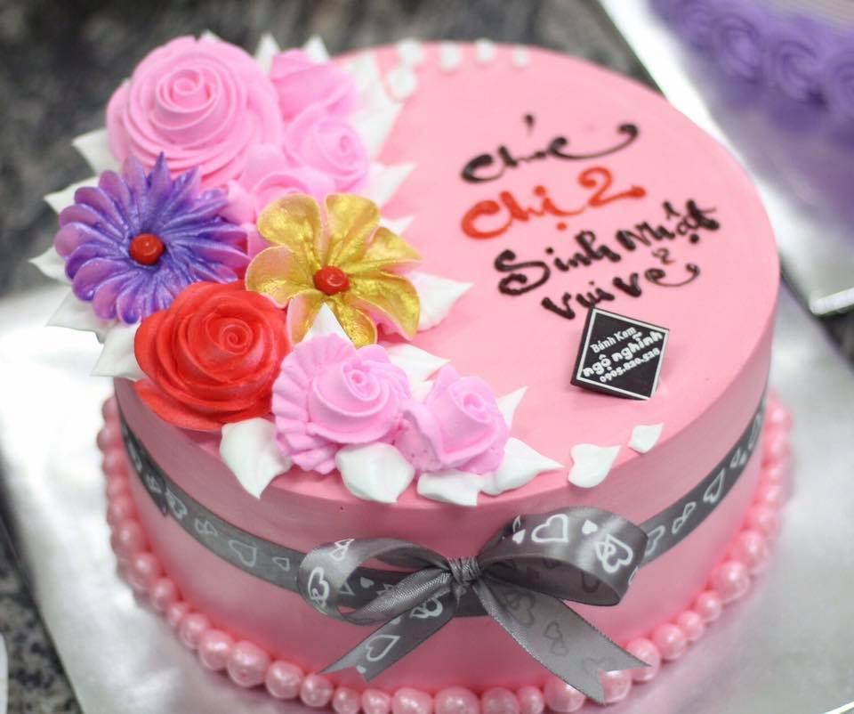 Bánh sinh nhật ngộ nghĩnh tạo hình bông hoa sang trọng hoa ...  Bánh sinh nh�...