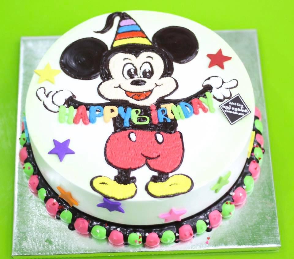 Bánh kem đẹp dễ thương tạo hình chuột mickey đẹp độc ngộ nghĩnh