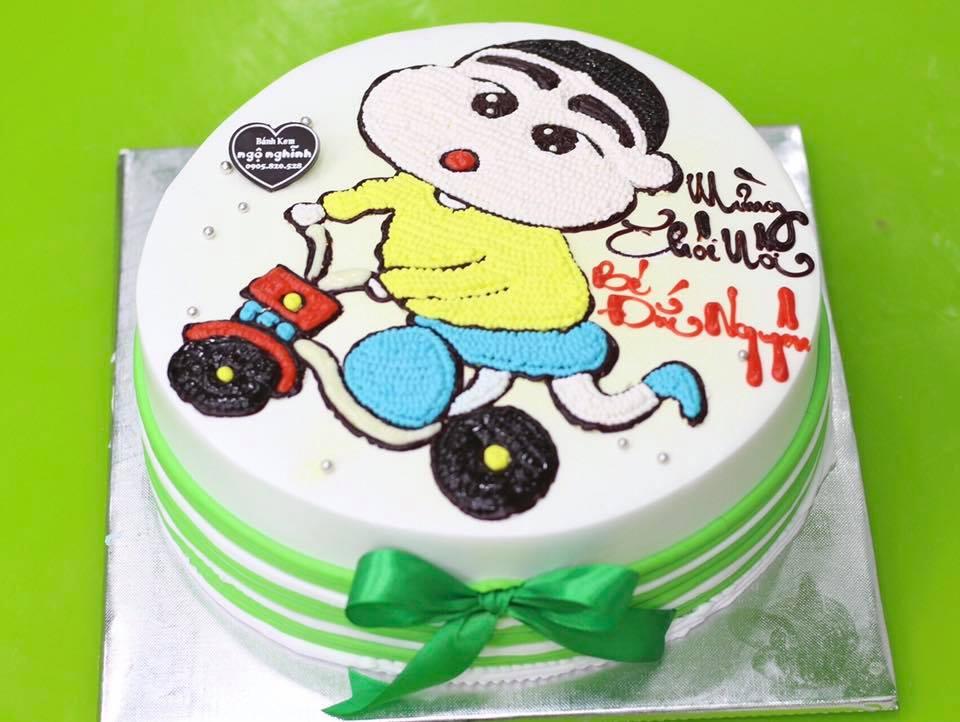 Kết quả hình ảnh cho Bánh sinh nhật hình chiếc xe đạp