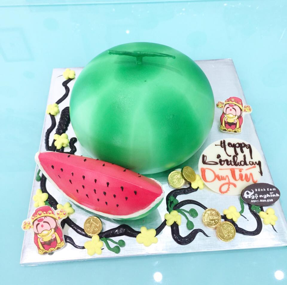 Bánh sinh nhật tạo hình quả dưa hấu ...