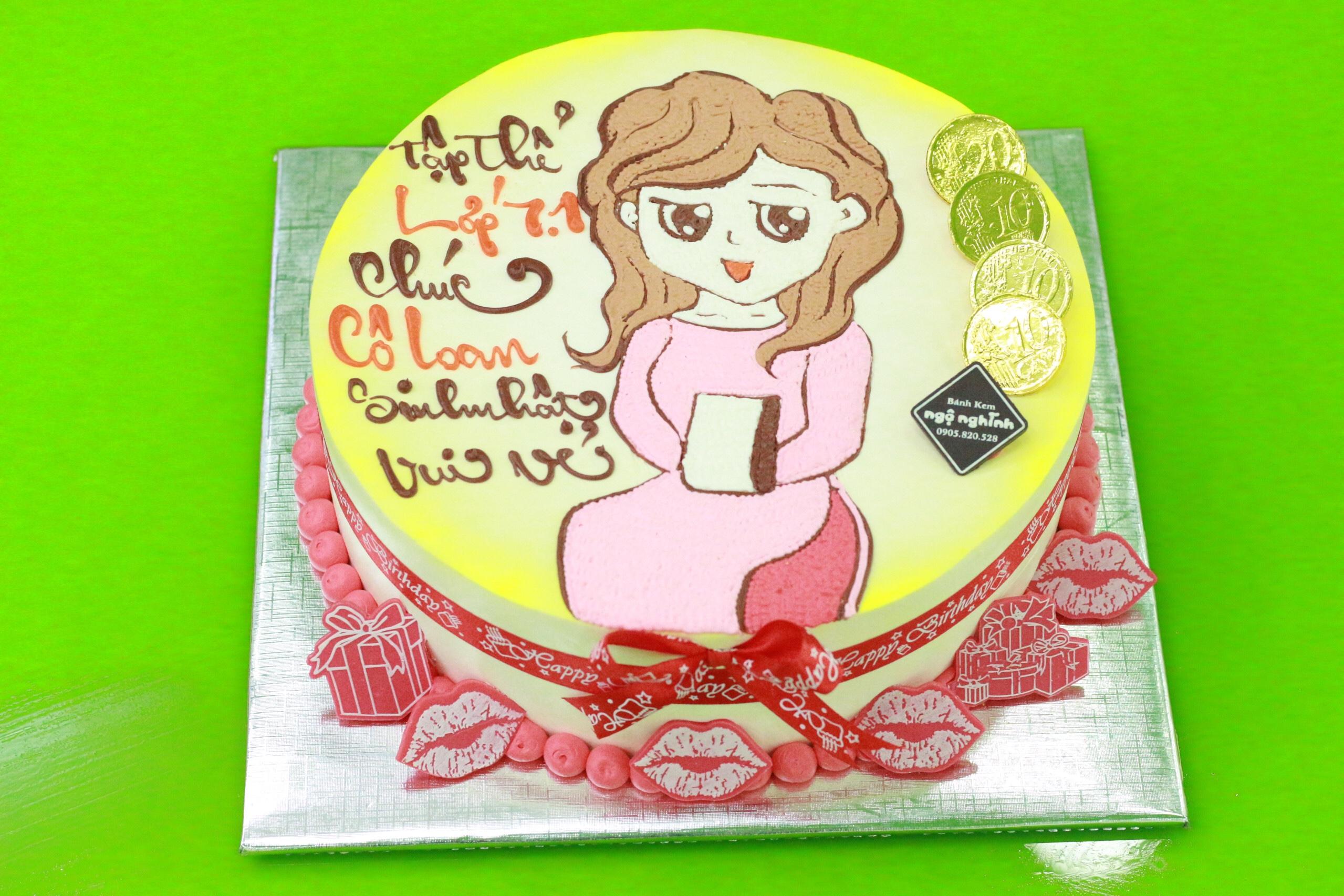 Bánh sinh nhật vẽ hình ...