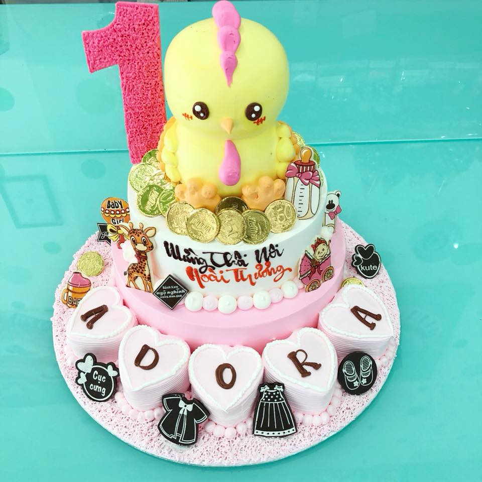 Bánh sinh nhật 2 tầng tạo hình ...