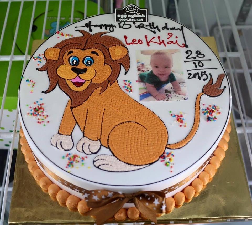 Bánh sinh nhật vẽ hoạt hình sư tử ...