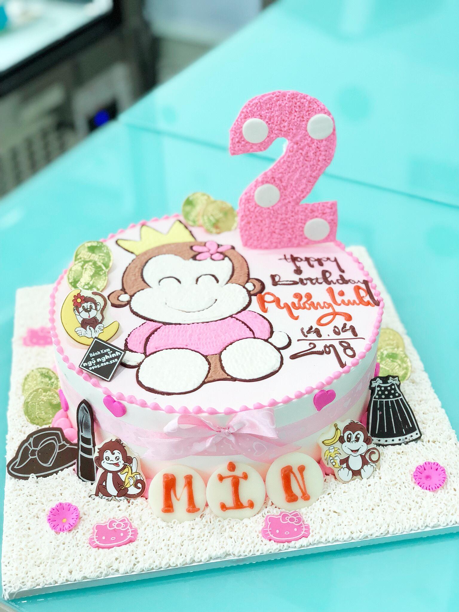 Bánh sinh nhật vẽ hình con ...