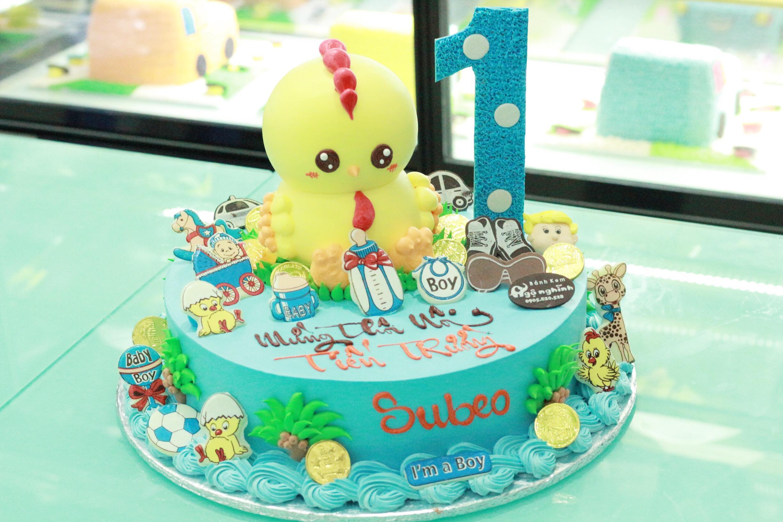Bánh sinh nhật con gà ...