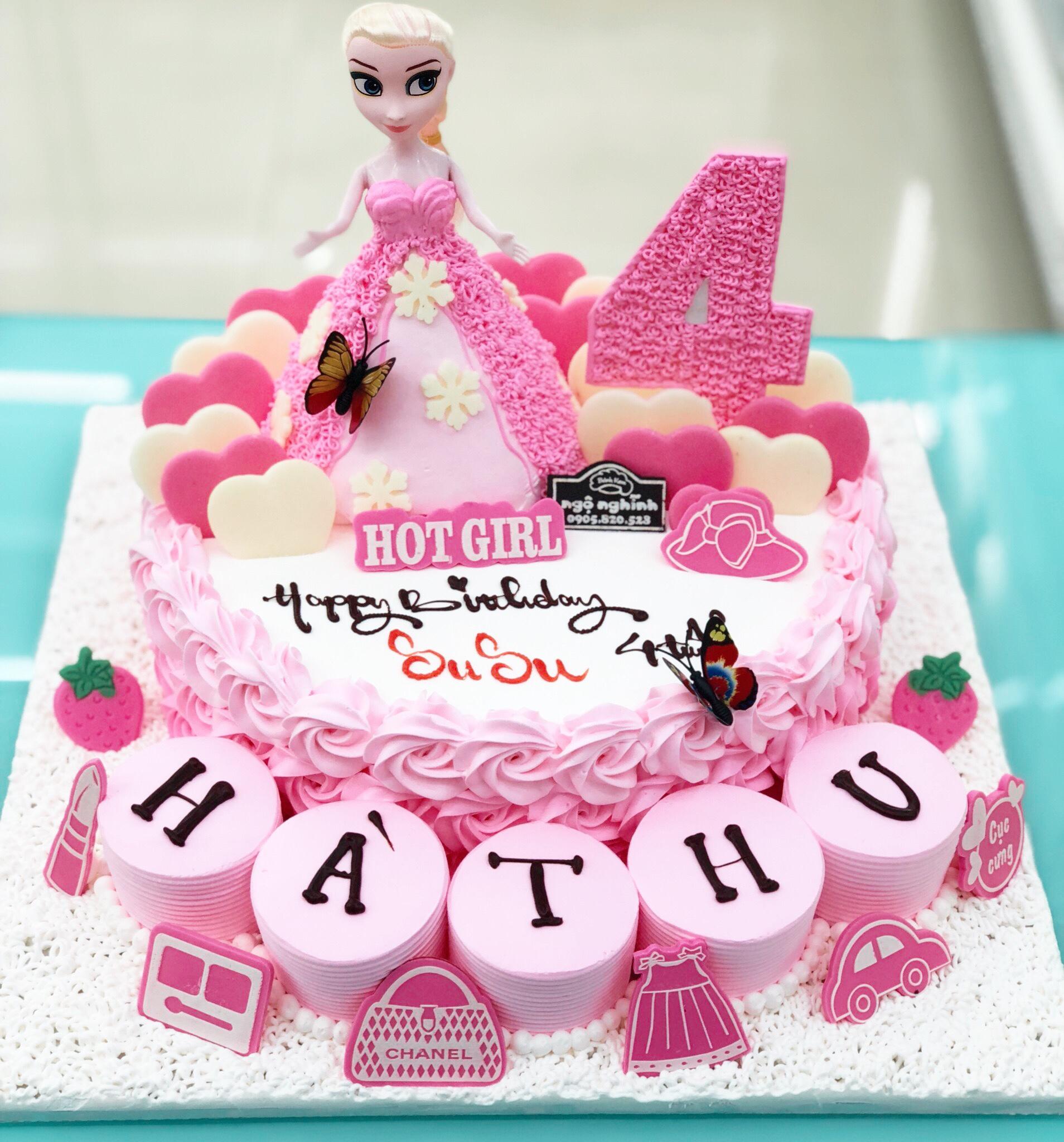 Bánh kem sinh nhật tạo hình công chúa ...