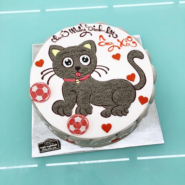 Bánh Kem Ngộ Nghĩnh Vẽ Hình Con Mèo ...