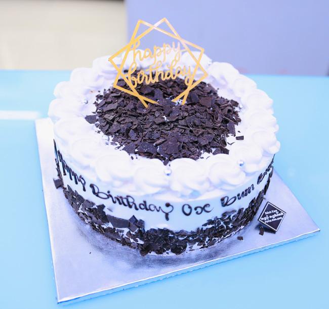 Bánh kem sinh nhật rắc hạt socola nguyên chất đẹp độc đáo tặng ...